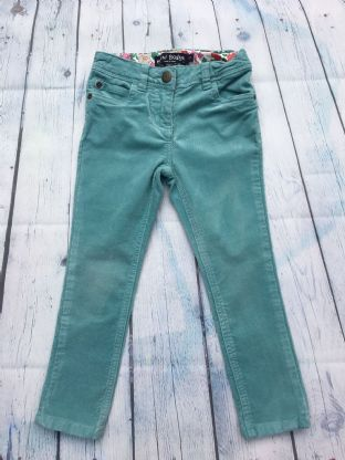 Mini Boden blue skinny fit stretch needlecord trousers age 5 (fits age 4-5)